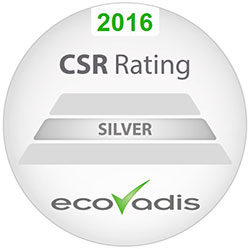 Sharps has received the Silver Medal level of achievement for Corporate Social Responsibility (CSR) from EcoVadis