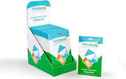 TakeAway Medication Recovery System Envelope (USPS) - Case of 12 with Display